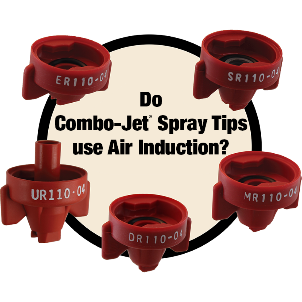Do Combo-Jet Spray Tips Use Air Induction or Air Eduction technology?