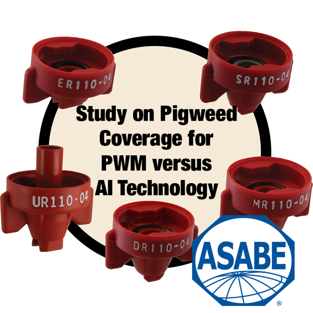 ASABE Study on Canopy Deposit of Glufosinate-Ammonium on Pigweed Suppression with PWM versus AI technologies