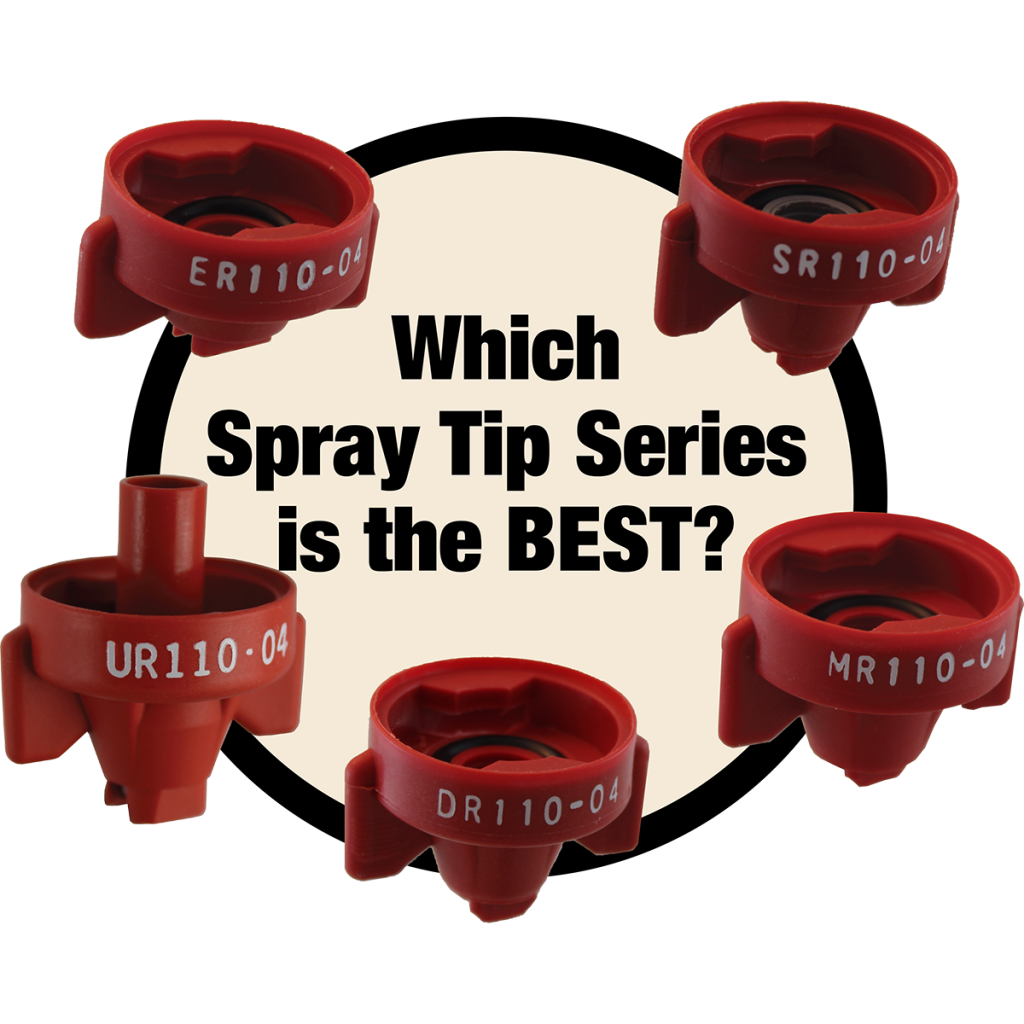 Since each application is different, it is best to find the spray tip that suits your speed, coverage and drift control requirements, instead of picking a tip based on the series alone. Tip Wizard is the recommended tool to make picking spray tips easy.