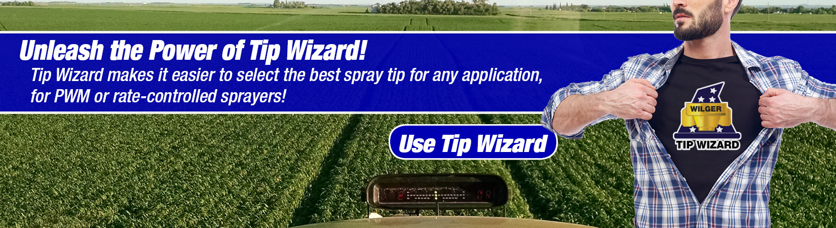 Tip Wizard is a spray tip calculator, metering orifice calculator, ball flow indicator selector, and probably your best friend when figuring out how to pick the best spray tips for PWM or BPW spray systems. It provides excellent educational information as to what levels of driftable fines might be expected, spray quality and more.