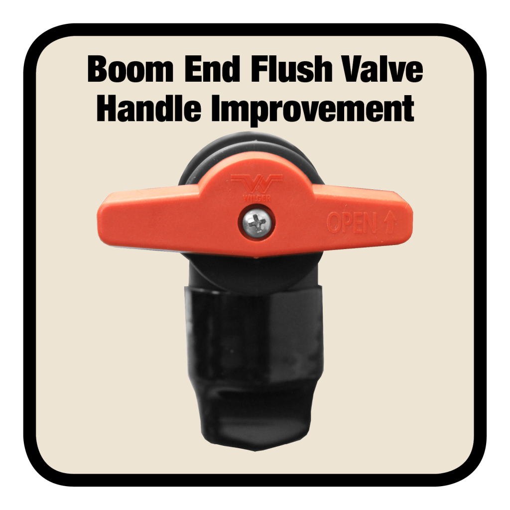 Improved Boom End Flush Valve Handle