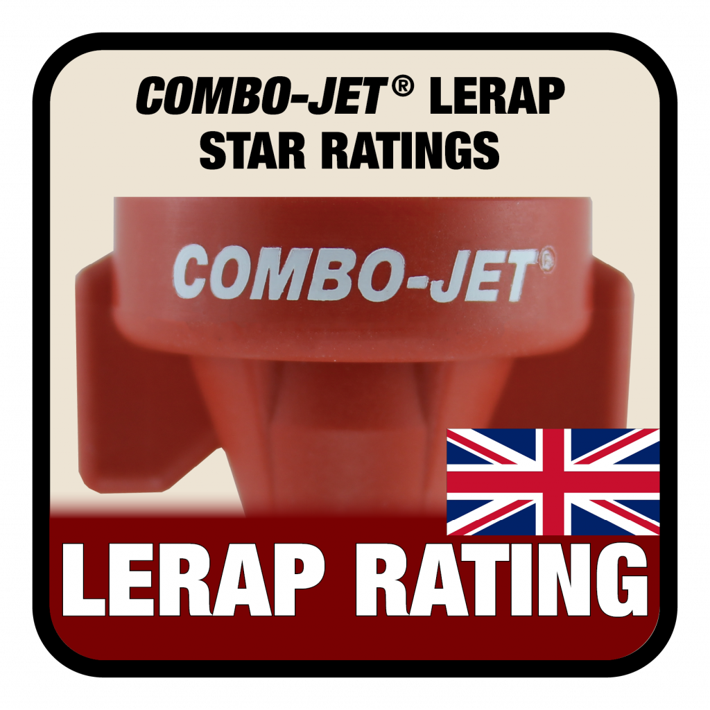 Combo-Jet nozzles hold LERAP star ratings for nozzles tested for relative drift reduction