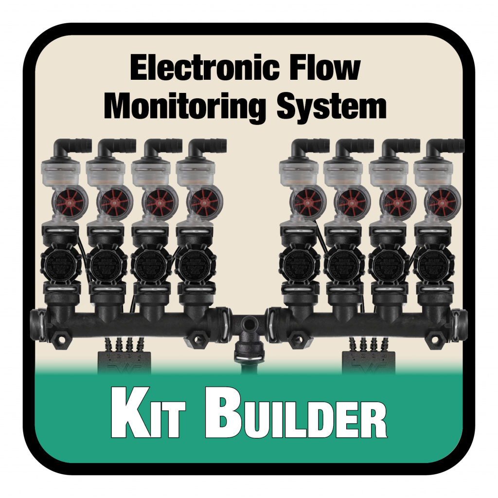 The excel worksheet that helps build an electronic flow monitoring system parts list and quote based on specific implement spacing and size